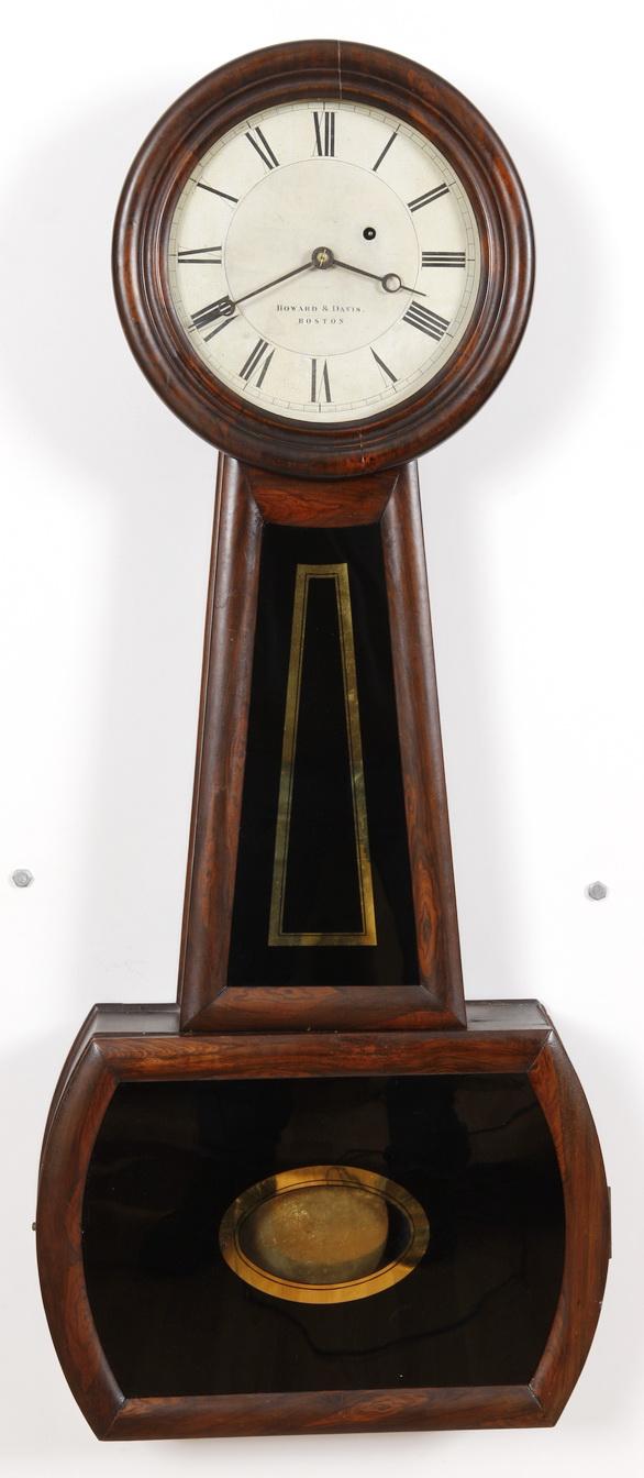 Howard Amp Davis 3 Weight Driven Banjo Clock Boston Ma