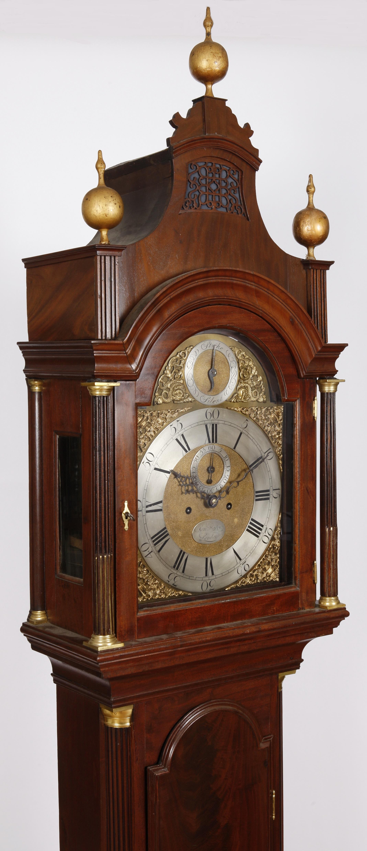 Samuel Hodges London High Style Mahogany Longcase Clock C