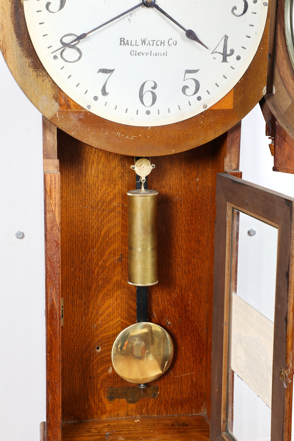 Seth Thomas No 3 Railroad Regulator Weight Driven Clock